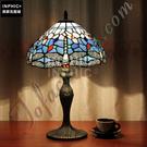 INPHIC-田園地中海藍蜻蜓珠子玻璃歐式手工創意藝術品檯燈_S2626C
