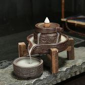 倒留香香爐 倒流香爐家用時來運轉創意禪意大號茶道檀香擺件 霓裳細軟
