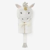 【美國Elegant Baby】動物造型連帽浴巾- 純白獨角獸