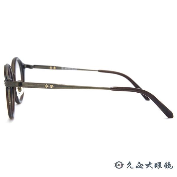 RETROCRAFT 眼鏡 RC1060 BWN (棕) 義大利製 鈦 圓框 近視眼鏡 久必大眼鏡