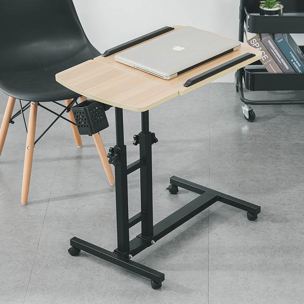 威瑪索 電腦桌 360度升降工作桌 深木紋 懶人桌 電腦桌 NB桌 邊桌