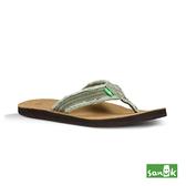 SANUK 麂皮仿舊帆布人字拖鞋-男款SMS2117 OLV (橄欖綠)