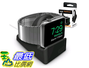 [105美國直購] 充電座 Orzly Night-Stand for Apple Watch BLACK Support Stand with Slot Concealing Cable B0127F1IC4