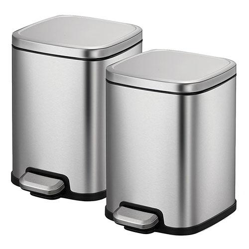 Sensible Eco Living 6L 不鏽鋼垃圾桶2入
