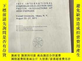 二手書博民逛書店proceedings罕見1971 international symposium on electron and