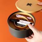 針線盒-鈕扣造型便攜迷你小針線盒家用學生宿舍用線盒縫補縫紉包工具剪刀套裝【AN SHOP】