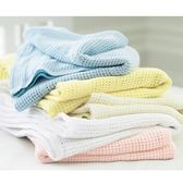 mothercare-洞洞毯-大棉毯-粉藍