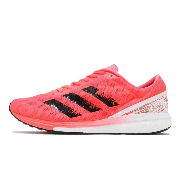 adidas 慢跑鞋 Adizero Boston 9 M 紅 白 男鞋 波士頓 馬拉松 運動鞋 【ACS】 EG4671