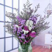 仿真花 乾花 干花花束天然真花勿忘我情人草diy客廳裝飾花瓶套裝家居擺設