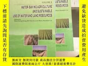二手書博民逛書店water.罕見saving agriculture and sustainable use of water a