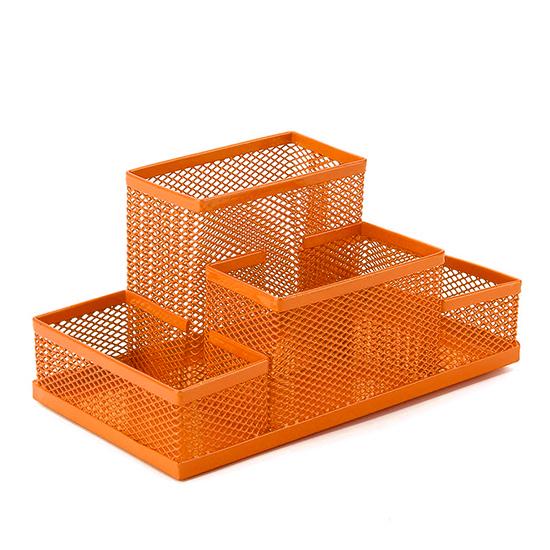 筆筒 收納桶 三格 四格 文具收納 鐵網 垃圾桶 收納盒 置物桶 鐵藝 彩色鏤空鐵藝筆筒【G008】MY COLOR