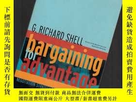 二手書博民逛書店BARGAINING罕見FOR ADVANTAGE【353】Y1