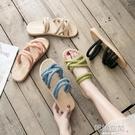 時尚涼拖鞋女外穿2020夏新款韓版百搭網紅仙女風涼鞋平底沙灘拖鞋