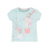 mothercare 淺藍摩天輪短袖上衣-粉彩馬戲團(M0PD736)12M