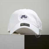 Nike Heritage 86 Cap 小Logo 刺繡 運動 棒球帽 老帽 白色 891289-100