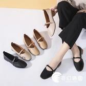 豆豆鞋-A單鞋女平跟瑪麗珍鞋A春季新款粗跟百搭淺口韓版平底豆豆-奇幻樂園
