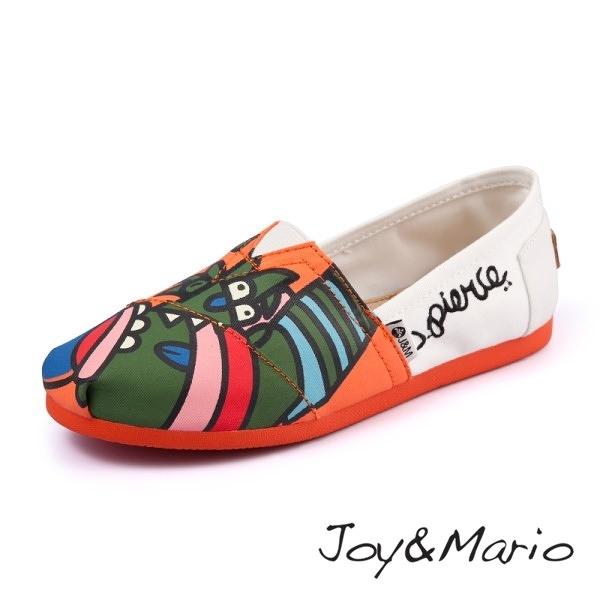 【Joy&Mario】藝術家J. Pierce 設計款平底休閒鞋 - 61576W GREEN