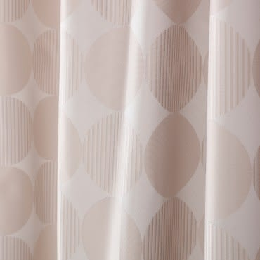HOLA home 圓媛緹花阻音塗層遮光半腰窗簾270x165cm 卡其