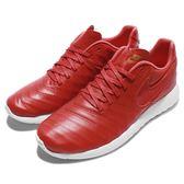 【六折特賣】Nike 休閒慢跑鞋 Roshe Tiempo VI QS 紅 白 皮革鞋面 NSW 運動鞋 男鞋【PUMP306】 853535-667