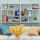 書架 墻上書架擱板置物架臥室壁櫃廚房壁架餐邊櫃客廳裝飾架書櫃儲物架 MKS薇薇