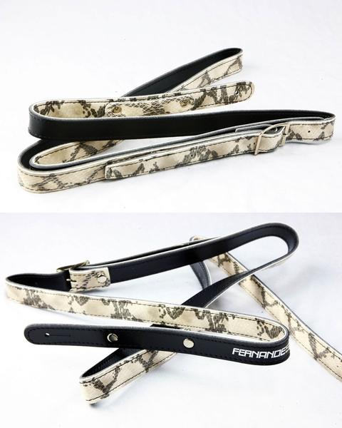 【敦煌樂器】FERNANDES S1400F 細版蛇紋造型皮吉他背帶