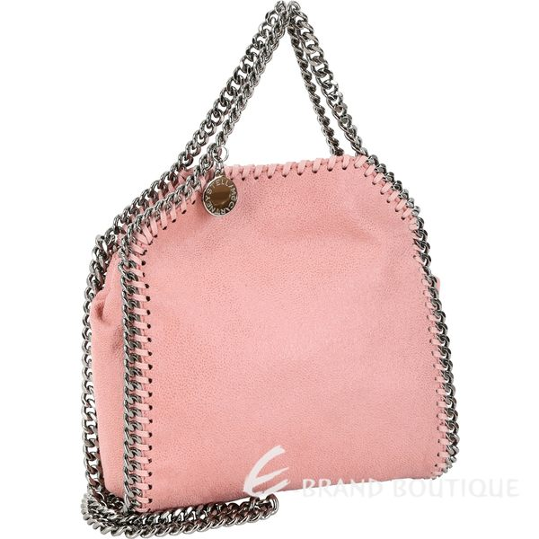 Stella McCartney Falabella Tiny 迷你兩用鍊帶包(玫瑰粉) 1530385-05