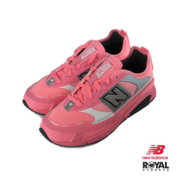 New Balance X-Racer 亮粉色 皮質 網布 休閒運動鞋 女款 NO.J0036【新竹皇家 WSXRCHFA】