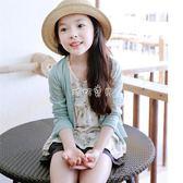 兒童針織外套 女童冰絲開衫夏季外搭兒童薄外套寶寶空調衫薄款空調服防曬針織衫 珍妮寶貝