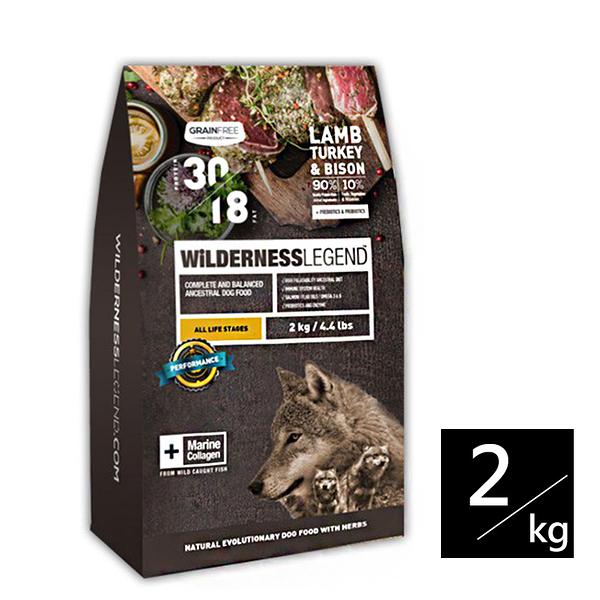 [寵樂子]《WILDERNESS 蔚特尼思》無穀天然狗糧-全齡犬 羊肉火雞野牛配方 2kg / 狗飼料