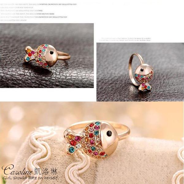 《Caroline》★【七彩魚】典雅設計優雅時尚品味配飾流行時尚戒指67539