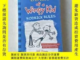 二手書博民逛書店Diary罕見of a Wimpy Kid #2: Rodrick Rules小屁孩日記2:羅德裏克法測Y44