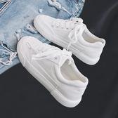 小白鞋女2019秋季韓版百搭小白鞋女帆布鞋原宿布鞋板鞋 衣普菈