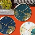 超靜音家用掛鐘表客廳輕奢臥室個性藝術創意時尚裝飾新中式掛鐘NMS【蘿莉新品】