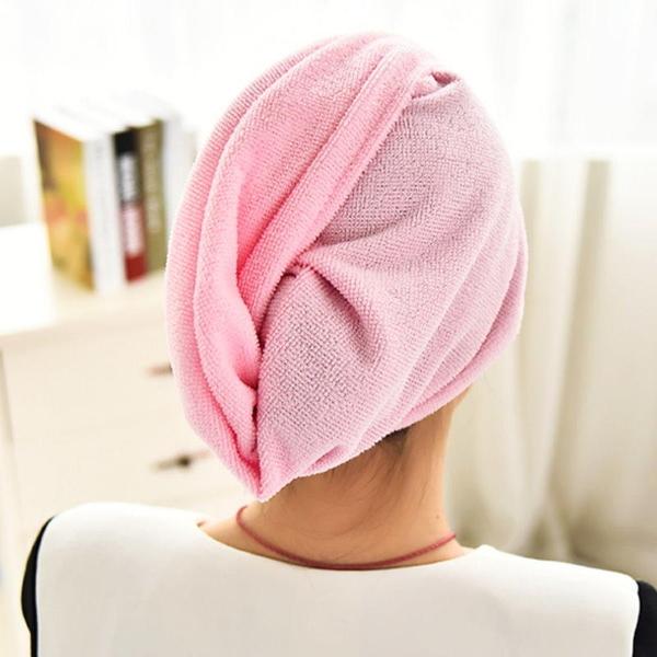 【DW355】超強吸水性神奇乾髮帽 七倍吸水力 浴帽式吸水頭巾 長短髮都適用 EZGO商城