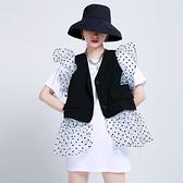 短袖洋裝(兩件套)-網紗拼接背心打底裙女連身裙2色73yh22[巴黎精品]