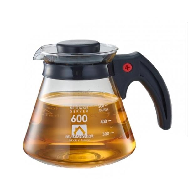 耐熱咖啡壺600ml/塑膠把