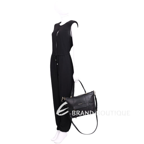 Michael Kors Jesse 前袋設計兩用肩包(大/黑色) 1620943-01