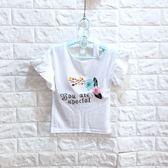 ☆棒棒糖童裝☆(S60781)夏女童白色花邊繡花朵上衣