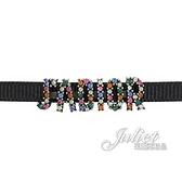 茱麗葉精品【全新現貨】Christian Dior J'ADIOR 字母造型鎖骨鍊.黑