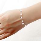 【5折超值價】時尚精美星星鑲鑽造型女款鈦鋼手鍊