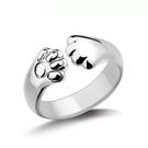 戒指 療癒系貓爪鍍925銀 開口可微調  戒指