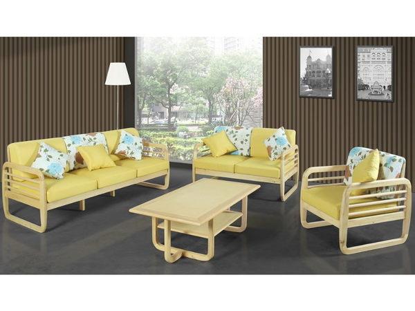 沙發組 SB-157-A 肯特本色實木組椅 (不含大茶几) 【大眾家居舘】