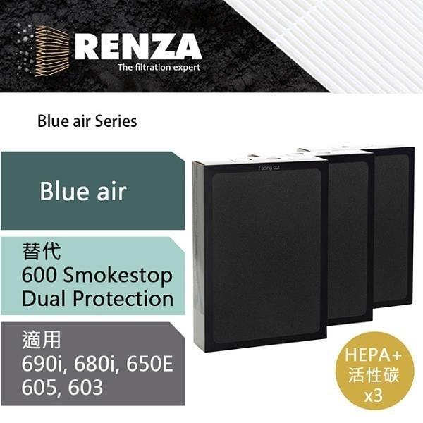 【南紡購物中心】RENZA濾網 適用Blueair 650e 680i 690i 600 503 SmokeStop Dual Protection 濾芯 耗材