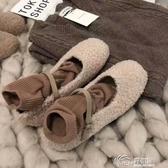 豆豆鞋 2019豆豆鞋一字扣帶瑪麗珍奶奶仙女風網紅羊糕毛女鞋