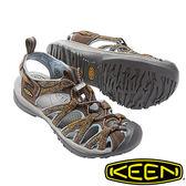 【KEEN 美國】Whisper 女輕量護趾水陸 兩用鞋『咖啡/印花』1016241 健行|涼鞋|健走|海邊|沙灘鞋