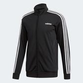 L- adidas ESS 3-STRIPES TRICOT TRACK 男裝 外套 立領 休閒 經典 基本款 百搭 舒適 黑 DQ3070