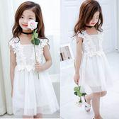 無袖洋裝 韓版蕾絲花朵背心裙 S77008