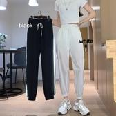 哈倫褲 夏季新款韓版BF工裝風設計感反光束腳哈倫褲休閒運動九分褲子女潮 嬡孕哺