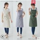 圍裙 圍裙防水防油棉質日式家用廚房工作服...