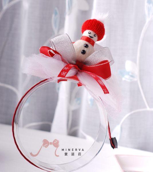 蜜諾菈Minerva‧聖誕節慶可愛雪人髮箍‧編號00542